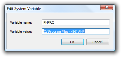 PHPRC env variable