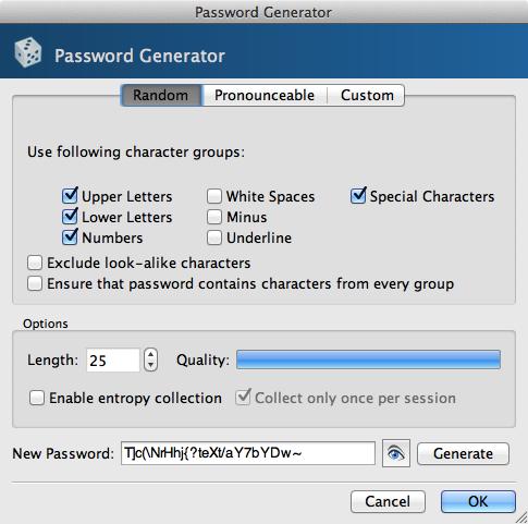 KeePassX Password Generator
